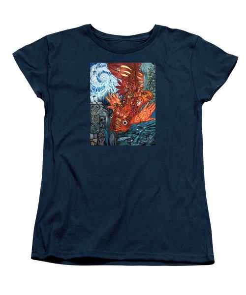 Humanity Fish Women's T-Shirt (Standard Cut) by Emily McLaughlin