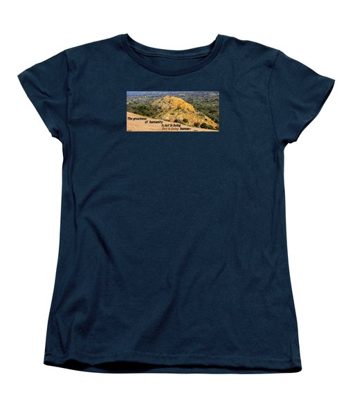 Women's T-Shirt (Standard Cut) featuring the photograph Humanity Reworked by David Norman