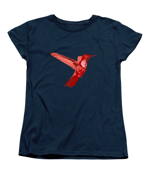 humming bird Contours Women's T-Shirt (Standard Cut) by Keshava Shukla