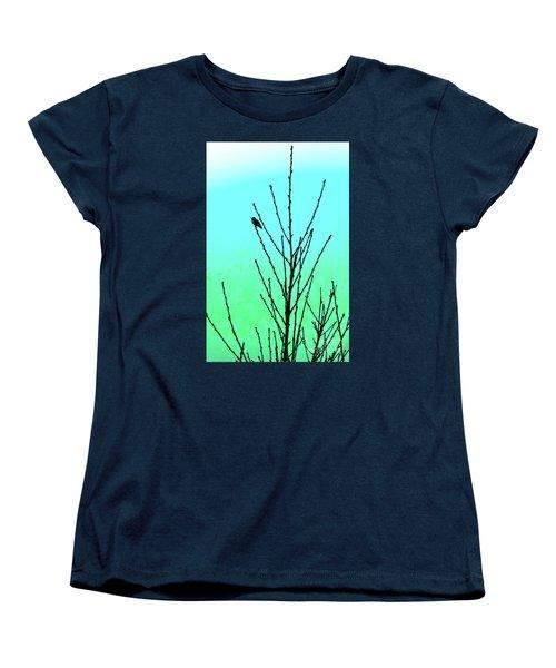 Hummingbird After Rain Women's T-Shirt (Standard Cut) by Gem S Visionary