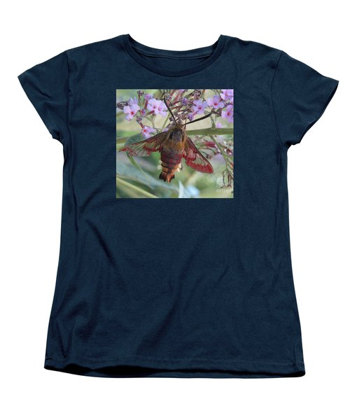 Women's T-Shirt (Standard Cut) featuring the photograph Hummingbird Butterfly by Jeepee Aero