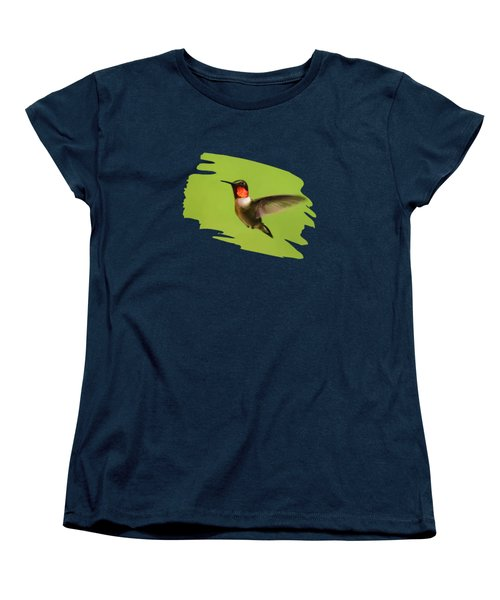 Hummingbird Defender Women's T-Shirt (Standard Cut) by Christina Rollo