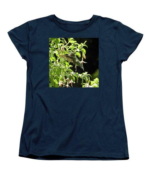 Hummingbird Feeding Women's T-Shirt (Standard Cut) by Brian Chase