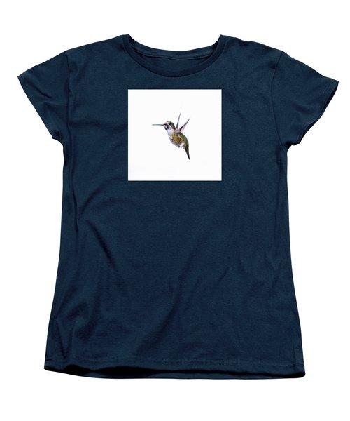 Hummingbird In Flight Women's T-Shirt (Standard Cut) by E Faithe Lester