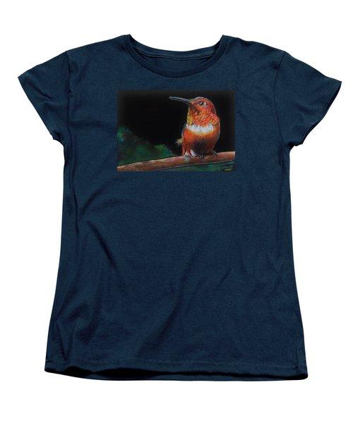 Hummingbird Women's T-Shirt (Standard Cut) by Jean Cormier