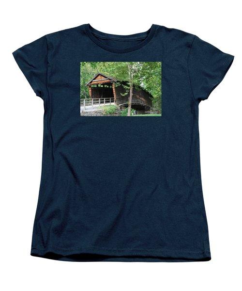 Humpback Bridge Women's T-Shirt (Standard Cut) by Eric Liller