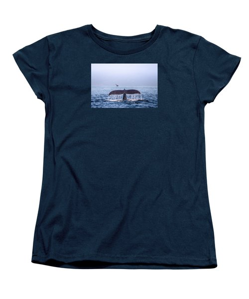 Humpback Whale Flukes Women's T-Shirt (Standard Cut) by Janis Knight
