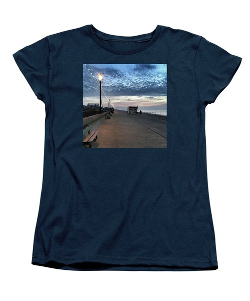 Hunstanton At 5pm Today  #sea #beach Women's T-Shirt (Standard Cut) by John Edwards