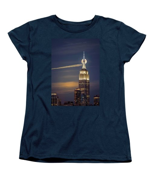 Hunter's Moon Women's T-Shirt (Standard Cut) by Eduard Moldoveanu