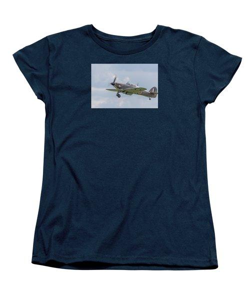 Hurricane Taking Off Women's T-Shirt (Standard Cut) by Gary Eason