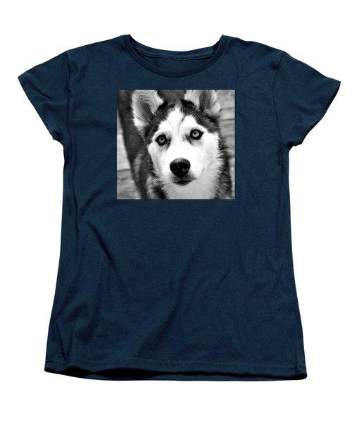 Husky Pup Women's T-Shirt (Standard Cut) by Sumit Mehndiratta