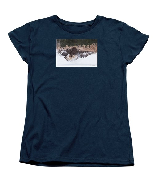 Hunting In The Snow Women's T-Shirt (Standard Cut) by CR Courson