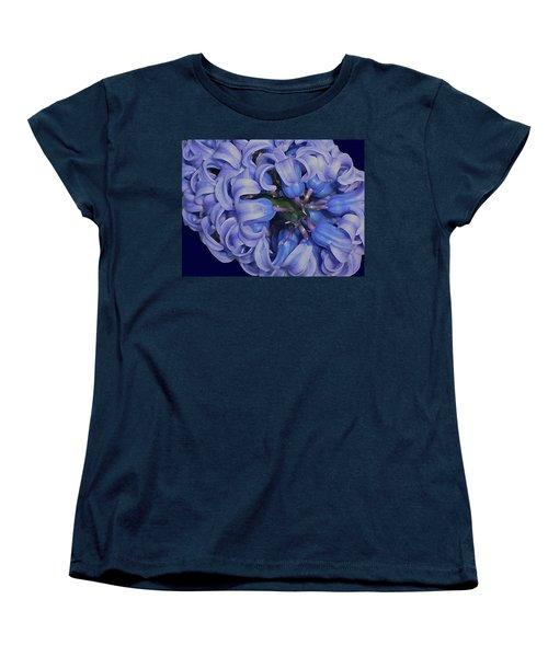 Hyacinth Curls Women's T-Shirt (Standard Cut) by Lynda Lehmann