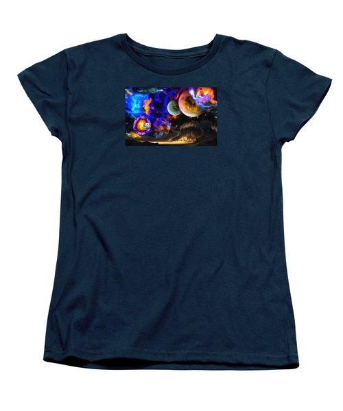 Hyperactivity Sector X66 In The Andromeda Gallaxy Women's T-Shirt (Standard Cut) by Mario Carini