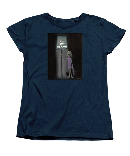 Women's T-Shirt (Standard Cut) featuring the painting I Am Not Afraid by Tone Aanderaa