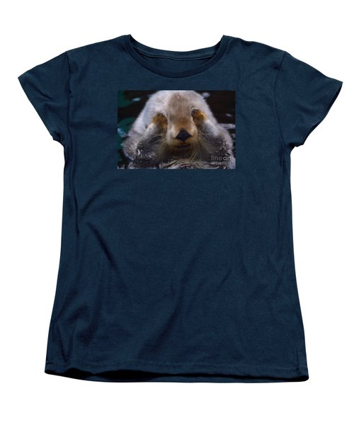 Women's T-Shirt (Standard Cut) featuring the photograph I Can't Watch by Nick Gustafson