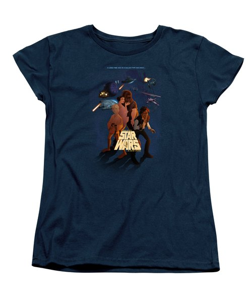 Women's T-Shirt (Standard Cut) featuring the digital art I Grew Up With Starwars by Nelson Dedos  Garcia