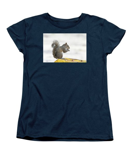 Women's T-Shirt (Standard Cut) featuring the photograph I Have My Nuts by Deborah Benoit