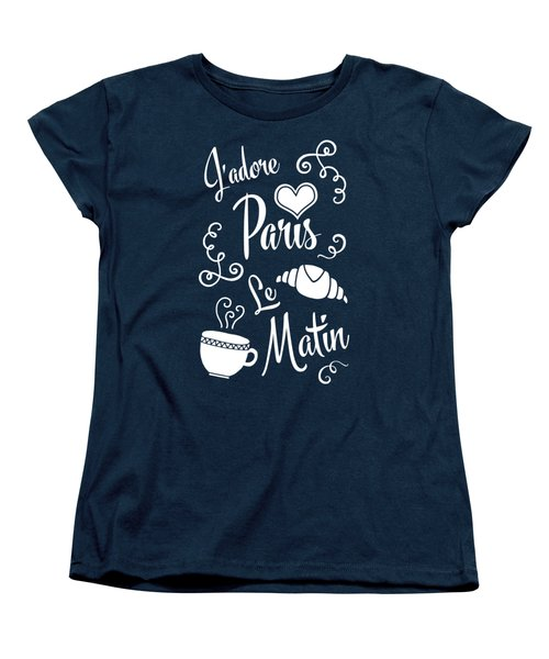 I Love Paris In The Morning Women's T-Shirt (Standard Cut) by Antique Images