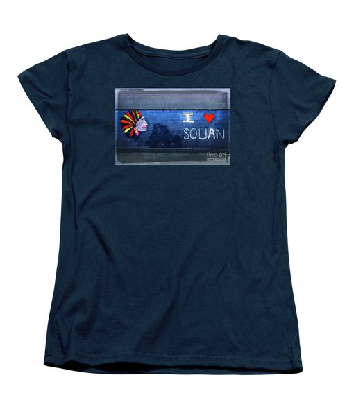 Women's T-Shirt (Standard Cut) featuring the photograph I Love Squan  by Colleen Kammerer
