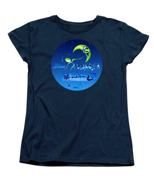 I Love Water  Women's T-Shirt (Standard Cut)