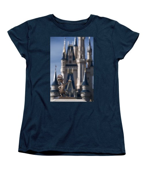I Present You Cinderella's Castle Women's T-Shirt (Standard Cut) by Eduard Moldoveanu