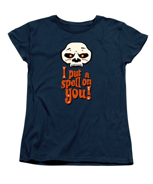 I Put A Spell On You Voodoo Retro Poster Women's T-Shirt (Standard Cut) by Monkey Crisis On Mars