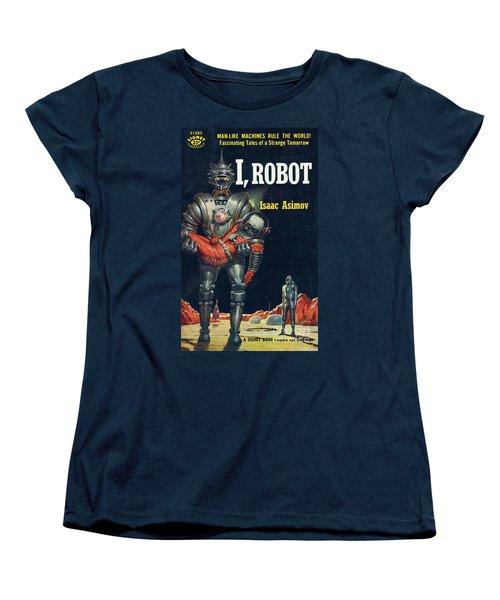 Women's T-Shirt (Standard Cut) featuring the painting I, Robot by Robert Schulz