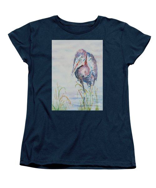 Women's T-Shirt (Standard Cut) featuring the painting I See Lunch by Mary Haley-Rocks