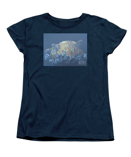 Women's T-Shirt (Standard Cut) featuring the drawing I See You by Laurianna Taylor
