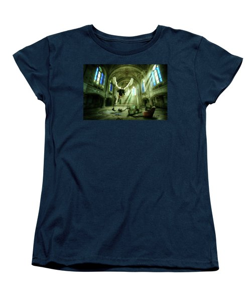 Women's T-Shirt (Standard Cut) featuring the digital art I Want To Brake Free by Nathan Wright