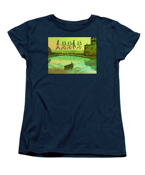 Women's T-Shirt (Standard Cut) featuring the painting I Wasn't Born To Follow by Mojo Mendiola