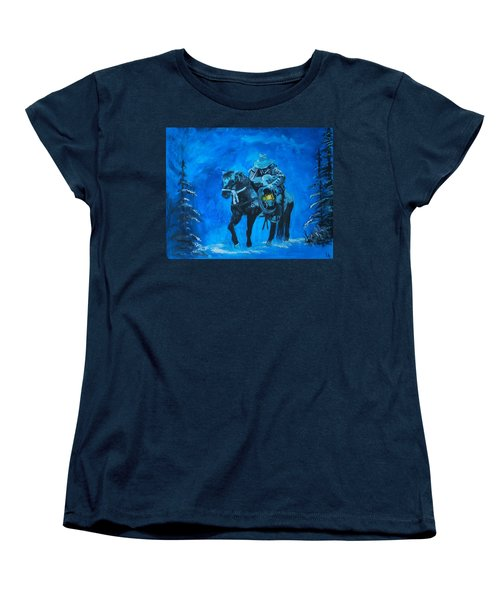Women's T-Shirt (Standard Cut) featuring the painting I Will Carry You by Leslie Allen