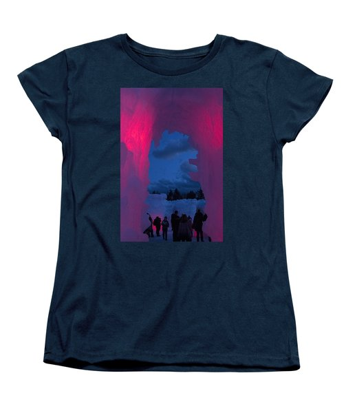 Ice And Colors  Women's T-Shirt (Standard Cut) by Betty Pauwels