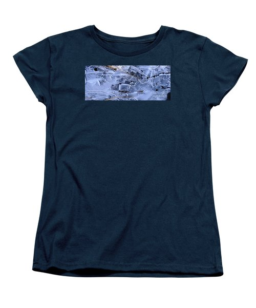 Ice Crystal Art Women's T-Shirt (Standard Cut) by Michele Penner