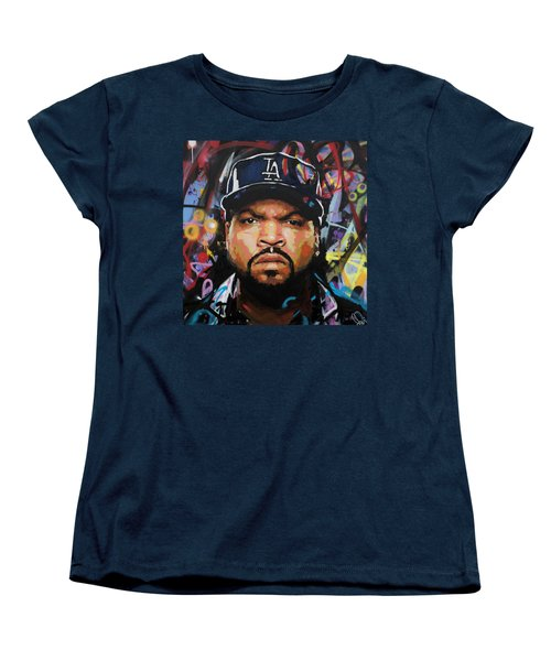 Women's T-Shirt (Standard Cut) featuring the painting Ice Cube by Richard Day