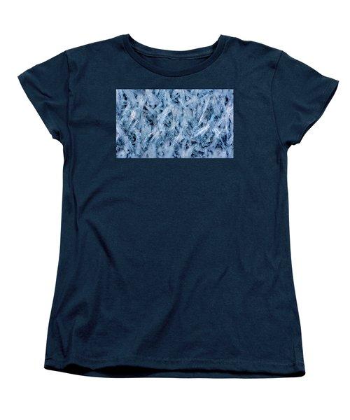 Ice Grass Growing Women's T-Shirt (Standard Cut) by Rainer Kersten