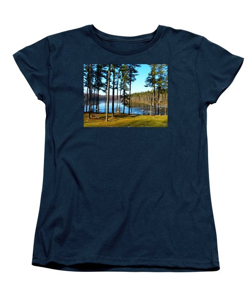 Ice On The Water Women's T-Shirt (Standard Cut) by Donald C Morgan