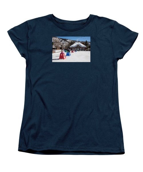 Ice Rink In Downtown Aspen Women's T-Shirt (Standard Cut) by Carol M Highsmith