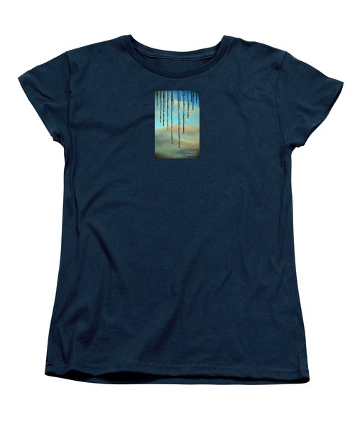 Women's T-Shirt (Standard Cut) featuring the photograph Ice Sickles - Winter In Switzerland  by Susanne Van Hulst