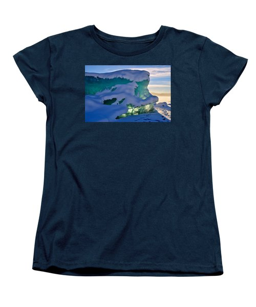 Iceberg's Glow - Mendenhall Glacier Women's T-Shirt (Standard Cut) by Cathy Mahnke