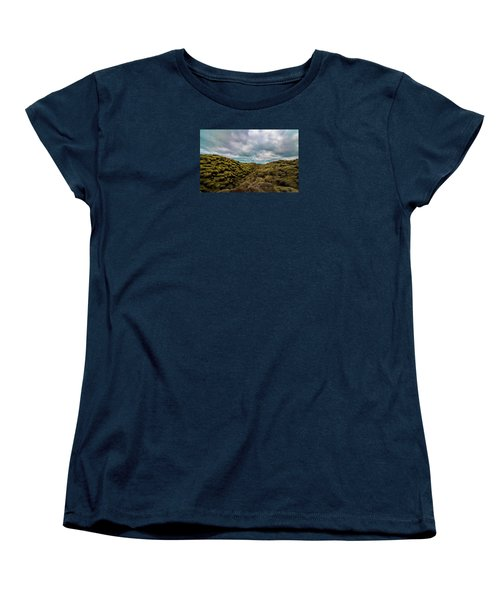 Iceland Moss And Clouds Women's T-Shirt (Standard Cut) by Venetia Featherstone-Witty
