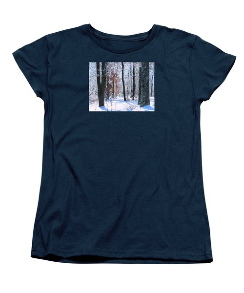 Icey Forest 1 Women's T-Shirt (Standard Cut) by Craig Walters