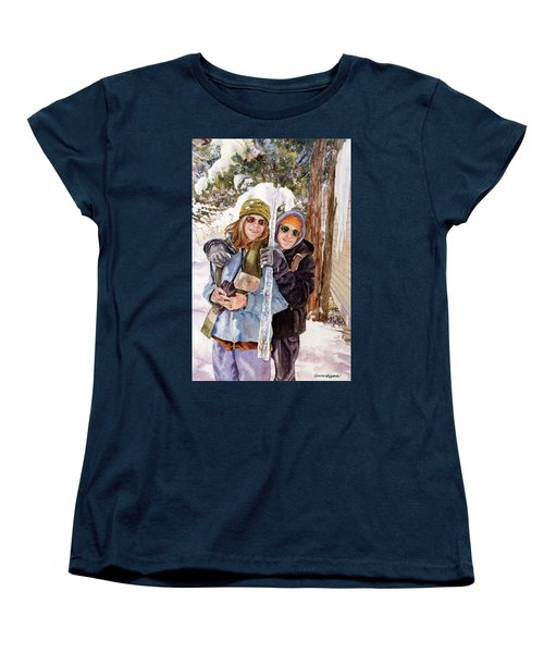 Women's T-Shirt (Standard Cut) featuring the painting Icicle by Anne Gifford