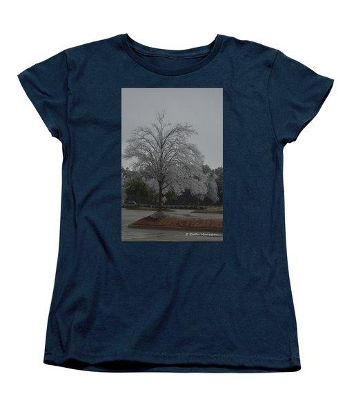 Icy Tree Women's T-Shirt (Standard Cut) by Gordon Mooneyhan