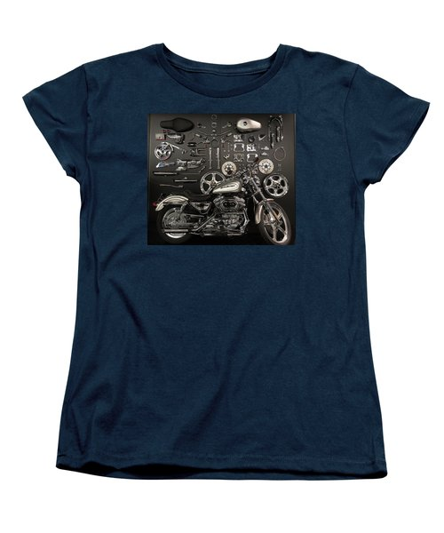 Women's T-Shirt (Standard Cut) featuring the photograph If Bling Is Your Thing by Randy Scherkenbach