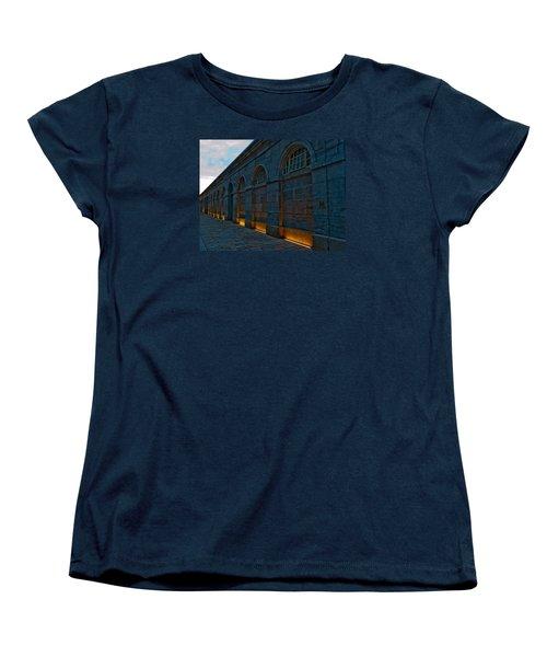 Illuminated Arches Women's T-Shirt (Standard Cut) by Helen Northcott