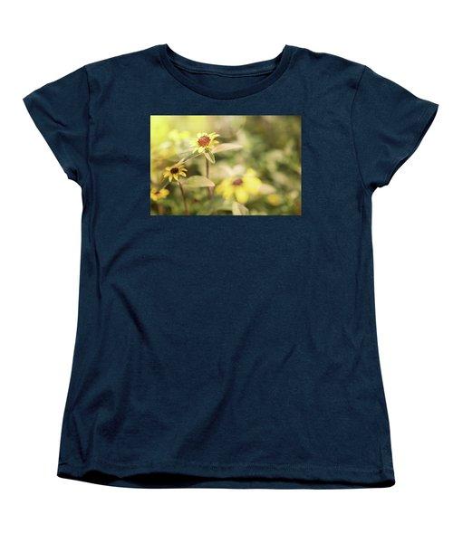 Illuminated Zinnia Women's T-Shirt (Standard Cut) by AugenWerk Susann Serfezi