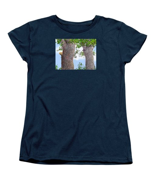 Women's T-Shirt (Standard Cut) featuring the drawing Imaginary Trees by Jim Hubbard