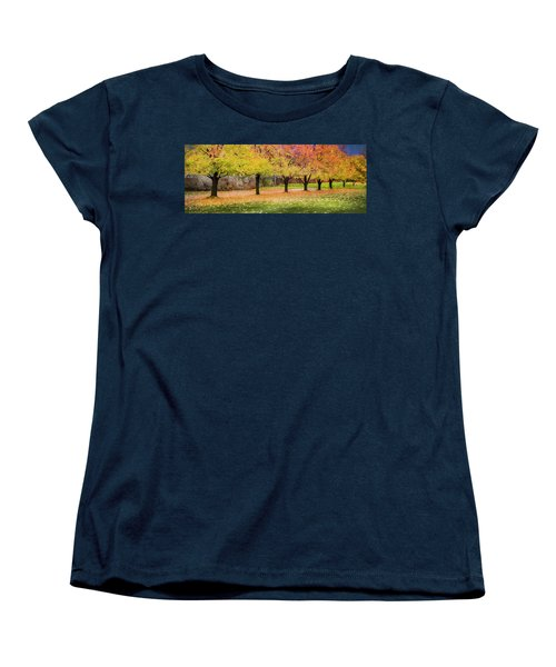 Impressionist Autumn Women's T-Shirt (Standard Cut) by Theresa Tahara